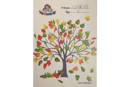 Arbre d'automne de Ninon - Créations d'enfant - 10doigts.fr