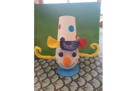 Un bonhomme clown - Divers - 10doigts.fr