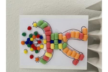 Clown doudou - Créations d'enfant - 10doigts.fr