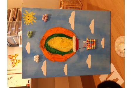 Création d'un tableau avec 100 objets pour les 100 jours d'école 2021 - Peinture - 10doigts.fr