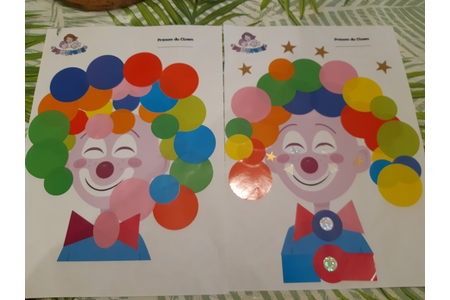 Clown - Gommettes - 10doigts.fr