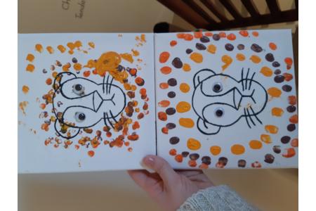 ?? Atelier peinture avec les petits loups ?? - Peinture - 10doigts.fr