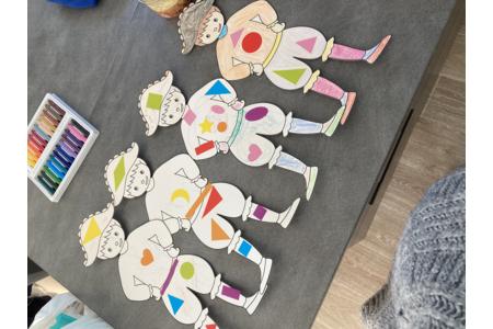Arlequins - Créations d'enfant - 10doigts.fr