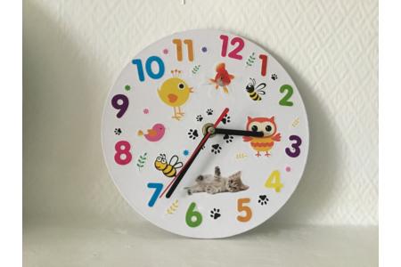 Horloge titi - Gommettes - 10doigts.fr