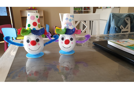Les clowns de chacha et juju - Créations d'enfant - 10doigts.fr