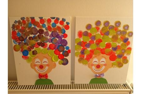Réalisation de clown en peinture - Peinture - 10doigts.fr