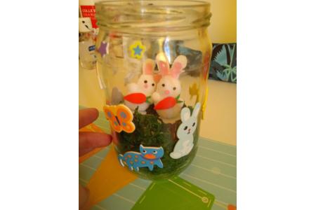 création de pot pour la décoration de pâque voici celui de ma fille - Pâques, Noël - 10doigts.fr