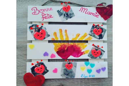 Cadeau fête des mamies - Vernis collage papiers, serviettes - 10doigts.fr