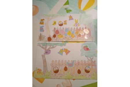 Coloriage de Pâques : La chasse aux œufs - Pâques, Noël - 10doigts.fr