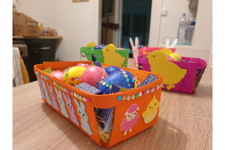 Corbeilles de pâques - Créations d'enfant - 10doigts.fr