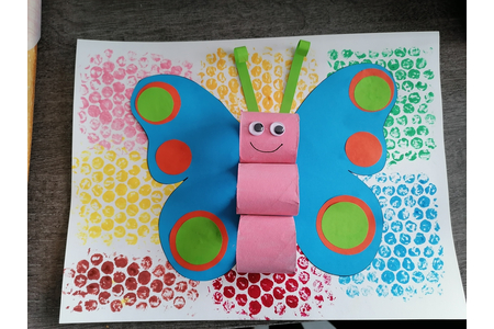 Le papillon - Créations d'enfant - 10doigts.fr