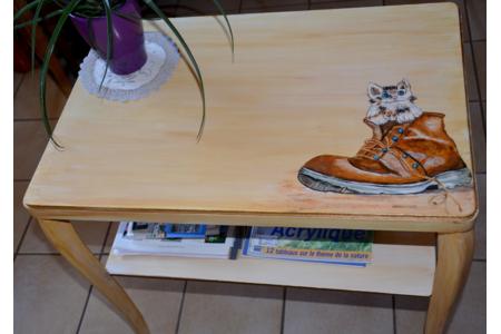 Peinture d'une console bois - Déco du bois - 10doigts.fr