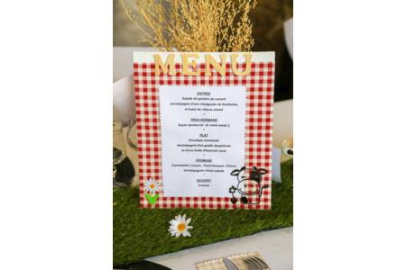 Création des menus pour mon mariage sur le thème de la Normandie - Divers - 10doigts.fr