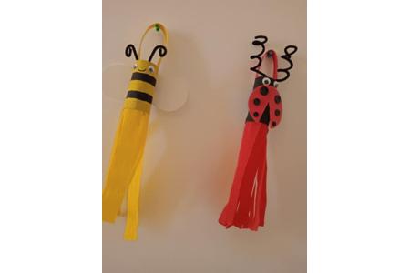 Création de coccinelle et d'une abeille avec des rouleaux papiers toilettes - Divers - 10doigts.fr