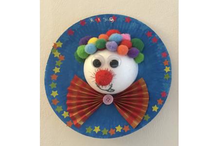 tableau clown - Créations d'enfant - 10doigts.fr