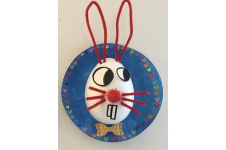 tableau lapin - Créations d'enfant - 10doigts.fr