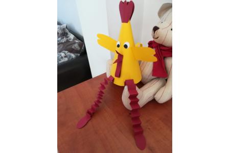 nôtre poule de Pâques - Créations d'enfant - 10doigts.fr