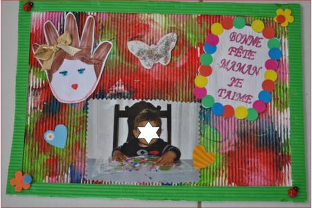 tableau fête des mères - peinture propre - Fêtes des pères et mères - 10doigts.fr