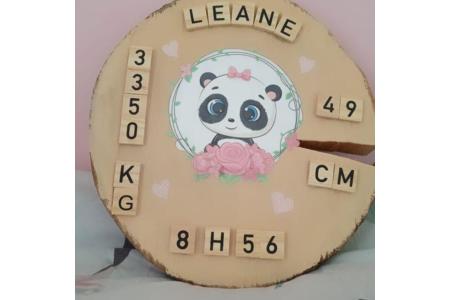 Petite surprise pour ma fille a son retour d'école Création sur un grand rodin de bois - Peinture - 10doigts.fr
