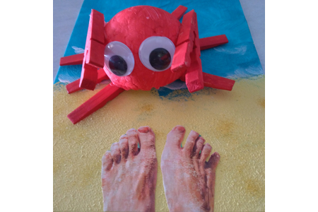 Crabe - Déco du polystyrène - 10doigts.fr