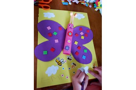 Joli papillon - Créations d'enfant - 10doigts.fr