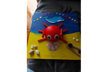 Le beau crabe - Créations d'enfant - 10doigts.fr