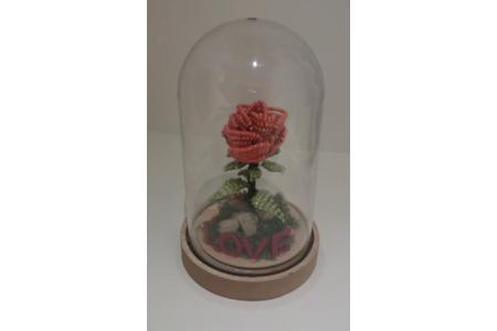 rose eternelle - Perles, bracelets, colliers - 10doigts.fr