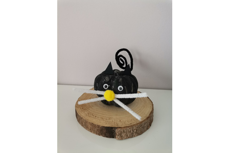 Halloween 2021 chat noir - Créations d'enfant - 10doigts.fr