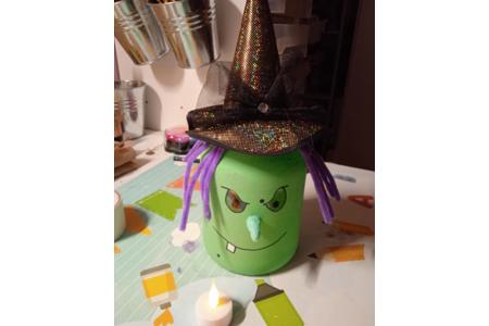 Pot de confiture customiser en sorcière par mon mari - Divers - 10doigts.fr