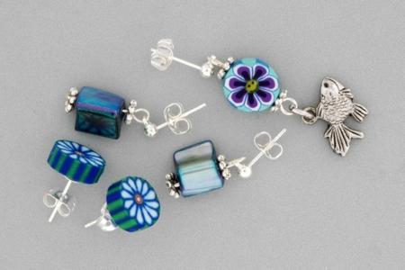 Boucles d'oreille - Perles, bracelets, colliers - 10doigts.fr