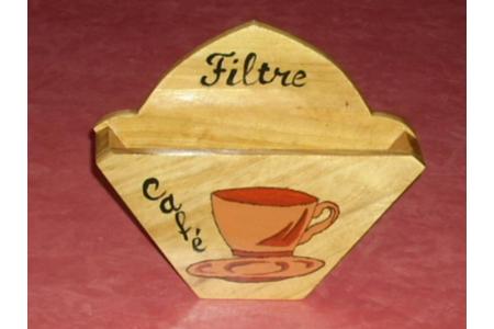 Porte filtre à café - Déco du bois - 10doigts.fr
