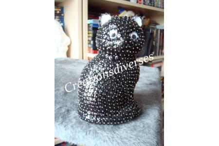chat en polystyrene  - Déco du polystyrène - 10doigts.fr