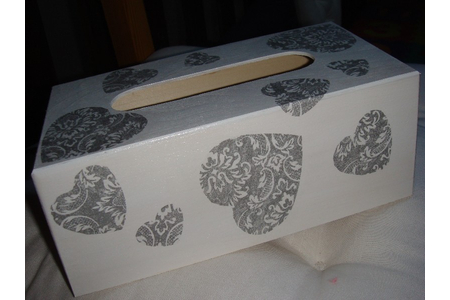 boite à mouchoirs - Déco du bois - 10doigts.fr