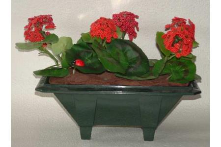 geraniums en perles de rocaille - Divers - 10doigts.fr
