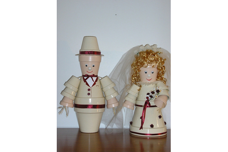 Les jeunes mariés - Poterie - 10doigts.fr