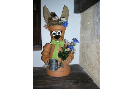 Mme Lapin en pots en terre - Poterie - 10doigts.fr