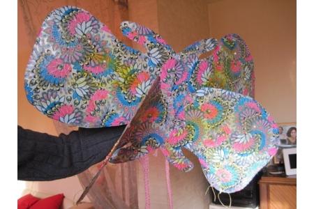 realisation d'un papillon pour le carnaval a l'ecole de ma petite fille - Fêtes, déguisements - 10doigts.fr