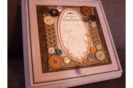 boite à bijoux romantique - Déco du bois - 10doigts.fr