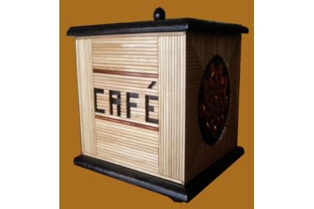 Boite à Café vue de profil - Déco du bois - 10doigts.fr