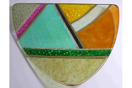 Plat triangulaire - Céramique, verre - 10doigts.fr