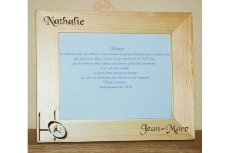 cadre chantourner pour mariage  - Déco du bois - 10doigts.fr