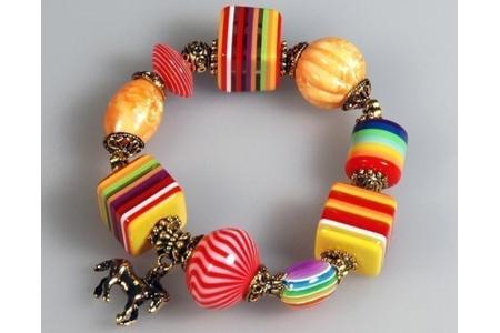 Bracelet arc-en-ciel - Perles, bracelets, colliers - 10doigts.fr