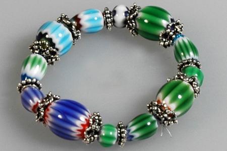 Bracelet perles chevron - Perles, bracelets, colliers - 10doigts.fr