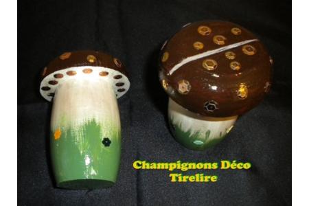 Champignons tirelire - Déco du bois - 10doigts.fr