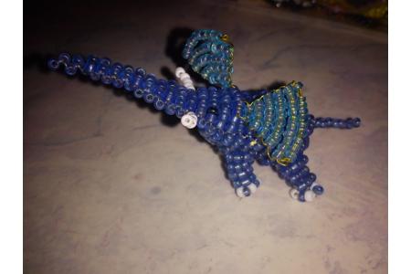 l'éléphant en perles - Perles, bracelets, colliers - 10doigts.fr