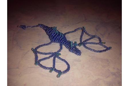 Dragon en perles - Perles, bracelets, colliers - 10doigts.fr