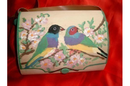 sac a main en bois peints - Déco du bois - 10doigts.fr