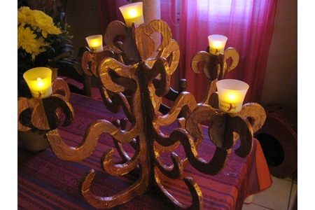 chandelier barroque en carton - Déco de la table - 10doigts.fr
