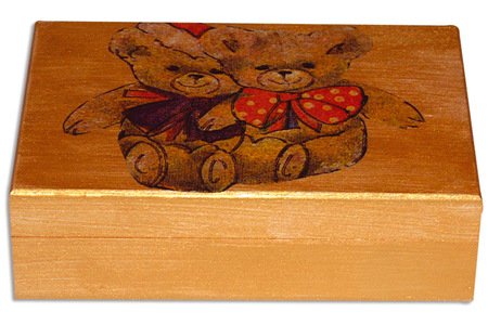 Boîte à cartes en bois - Boîtes et coffrets – 10doigts.fr