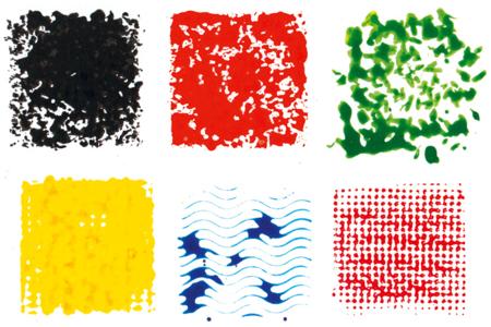Tampons texturés effets matières - Set de 6 - Tampons – 10doigts.fr